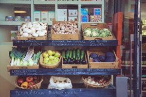 Fresh Food on Shelves