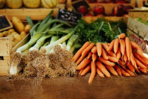 Vegetables for food pantry